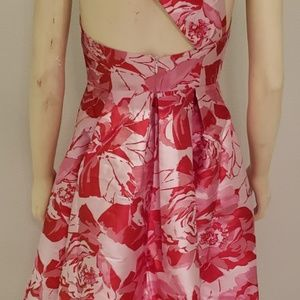 ASOS Dresses - 50's style party dress pink red roses Asos 6 NWT